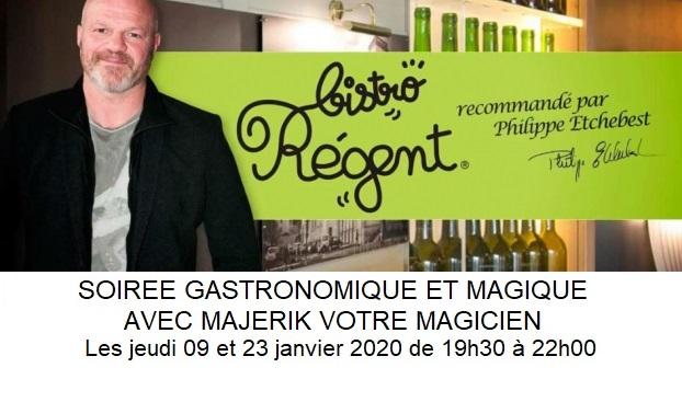 Gastronomie et magie avec Majerik Magicien Bistro Régent Besancon